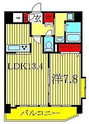 千葉県柏市あけぼの3丁目の賃貸マンションの間取り