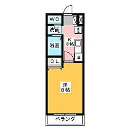 フローレス21[2階]の間取り