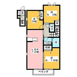 ラ・ヴィータ金岡西町 壱番館[2階]の間取り