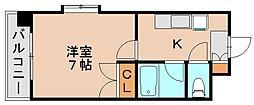 ラフェスタ吉塚[5階]の間取り