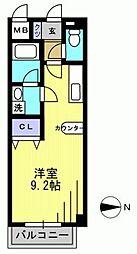 ビバス萩中[208kk号室]の間取り