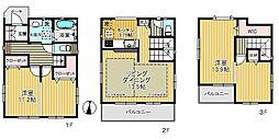 埼玉高速鉄道 戸塚安行駅 徒歩20分 2LDKの間取り