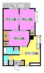 天竜ビル[5階]の間取り