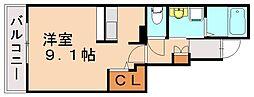 JR鹿児島本線 東福間駅 徒歩5分の賃貸アパート 1階1Kの間取り