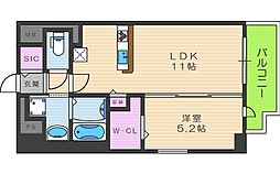 セレーナ・コンフォルト天神橋[9階]の間取り