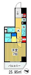 都営三田線 高島平駅 徒歩10分の賃貸マンション 2階1Kの間取り