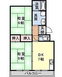 メゾンドヤマザキ[101号室号室]の間取り