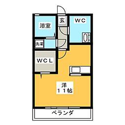 近藤伏見B棟[1階]の間取り