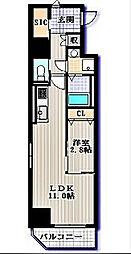 名古屋市営東山線 栄駅 徒歩7分の賃貸マンション 3階1LDKの間取り