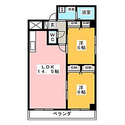 マーベルエトワール[2階]の間取り