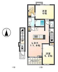 espacio[2階]の間取り