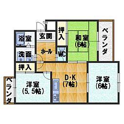 カーサNAKAMURA[203号室]の間取り