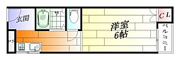 アジュール千里丘[3階]の間取り