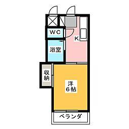 シャトレ下中野[1階]の間取り
