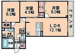仮称)D-room南田辺5丁目[1階]の間取り