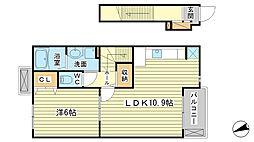カサブランカ A棟[A202号室]の間取り