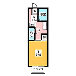 プチハウスM'ア・メイクII[2階]の間取り