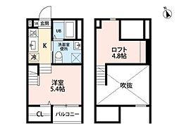 クレア新守西(クレアシンモリニシ)[2階]の間取り