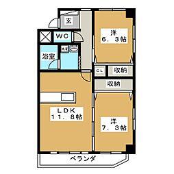 大枝ビル[3階]の間取り