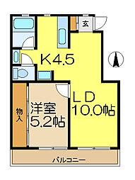 アメニティ35[3階]の間取り
