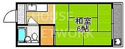 コーポラス前田[206号室号室]の間取り