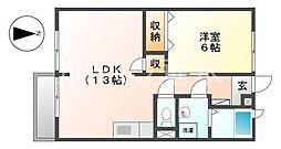 エルディム1[1階]の間取り