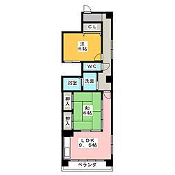 ランドマークII[2階]の間取り