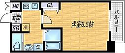 SK南森町[8階]の間取り
