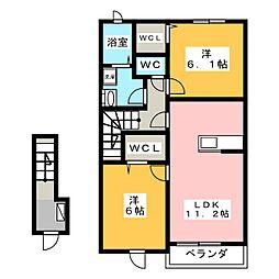 フローラ155[2階]の間取り