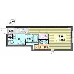 OIKOS東山 3階1Kの間取り