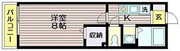 ハーフムーン[1階]の間取り
