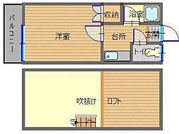 JR長崎本線 道ノ尾駅 徒歩5分の賃貸アパート 1階1Kの間取り