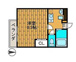 コスモ新百合丘2[3階]の間取り