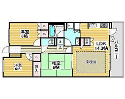 堺駅前アーバンコンフォート[13階]の間取り