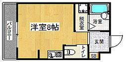 京阪本線 七条駅 徒歩8分の賃貸マンション 3階1Kの間取り