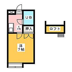 ニッシンハイツ笠寺[3階]の間取り