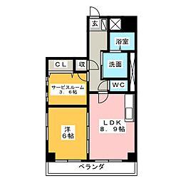 ベナレス藤枝[9階]の間取り