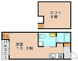 ルシエル箱崎[1階]の間取り