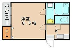 クレフラスト貝塚駅北[1階]の間取り