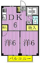 サンビレッジA・B・C[3-205号室]の間取り