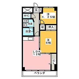 泉ヶ丘ハイツI[5階]の間取り