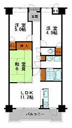 グローバル姫路中地[2階]の間取り