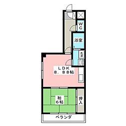 セントラルハイツ112[4階]の間取り