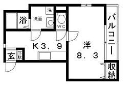 メゾン共立通[3階]の間取り