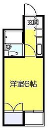 ベルトピア新松戸[101号室]の間取り