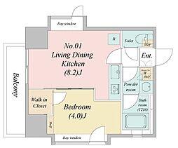江戸川6丁目新築マンション 2階1LDKの間取り