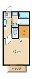 ミラーハイツ3[1階]の間取り