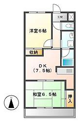 エミール1st[6階]の間取り