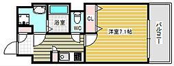 ラムール南堀江[2階]の間取り