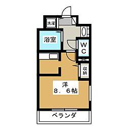 スワンズ京都二条城北[2階]の間取り